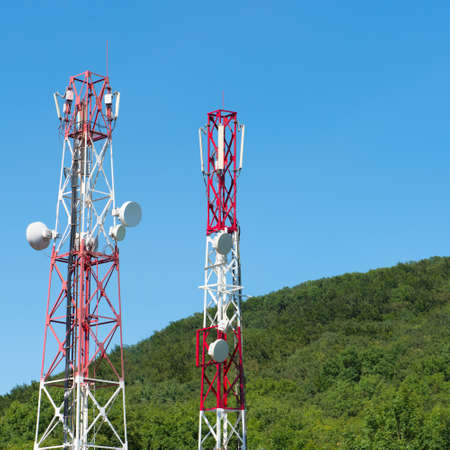 communications tower: broadcasting towers In mountains