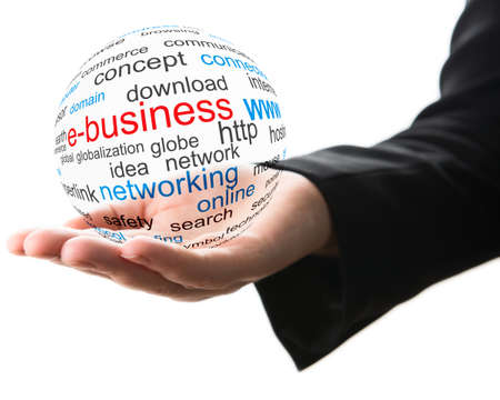 hands holding globe: Concept of internet business