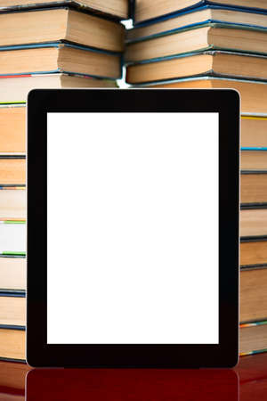 Books and tablet pc photo