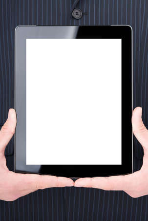 Man holding digital tablet  photo