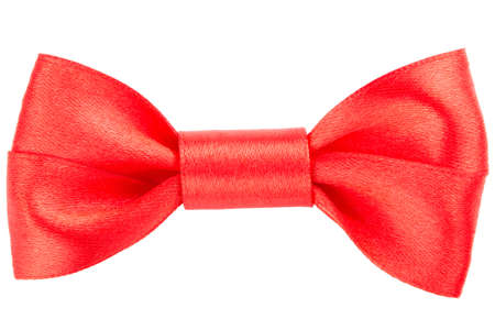 goodie: Red bow on white background