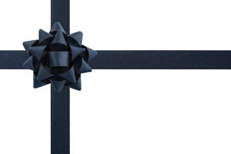 black ribbon bow: Dark bow and ribbons