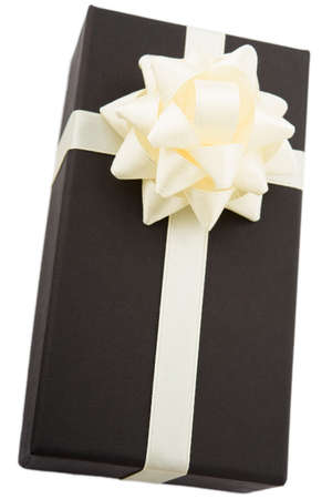 goodie: gift box with white bow Stock Photo
