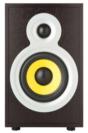 isolated modern audio speaker on a white background Stock Photo - 16409771