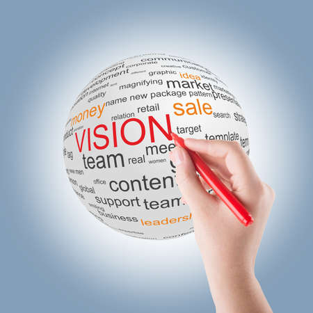 Concept of vision in business photo