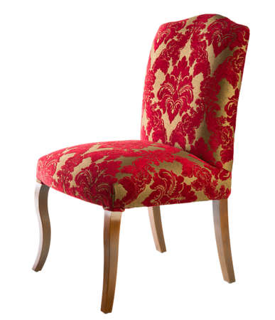 Chaise rouge isol� sur fond blanc photo