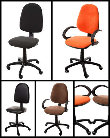 office chairs: Office chairs isolated on white