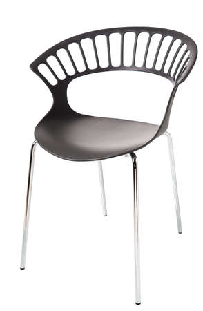 arm chair: contemporary plastic chair isolated