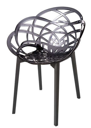 contemporary plastic chair isolated photo