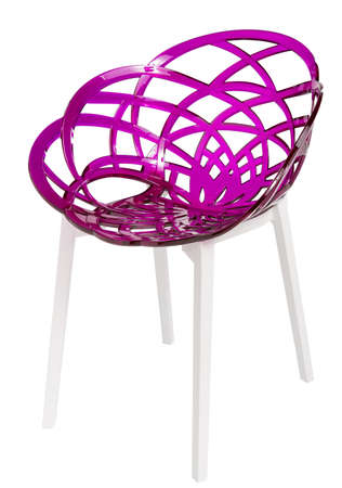 isolated chair: contemporary plastic chair isolated