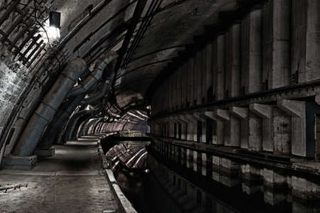 strong base: Bunker sotterraneo da guerra fredda. Ucraina, Sebastopoli Archivio Fotografico