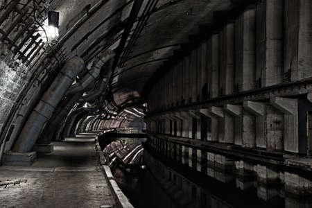 catacomb: Underground bunker from cold war. Ukraine, Sevastopol
