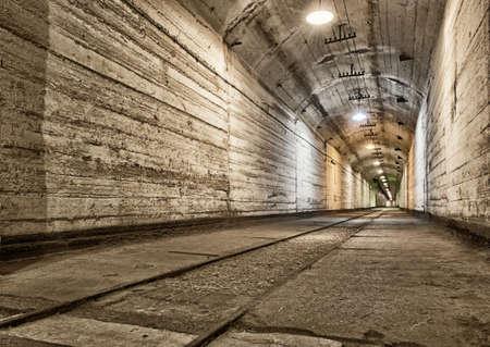abandoned factory: Underground bunker from cold war. Ukraine, Sevastopol