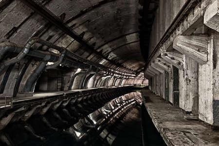 cold war: Underground bunker from cold war. Ukraine, Sevastopol