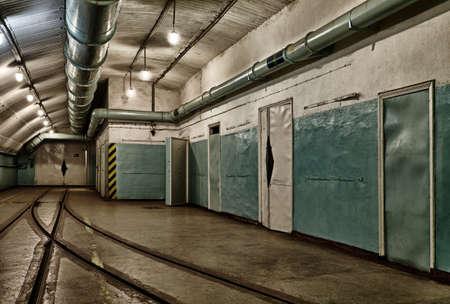 Underground bunker from cold war. Ukraine, Sevastopol photo