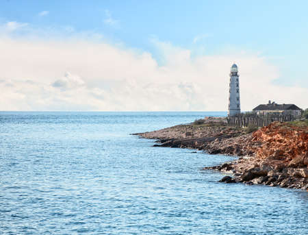 Lighthouse in Sevastopol. Crimea, Ukraine . photo