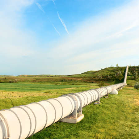 natural gas: high pressure pipeline for gas transporting .