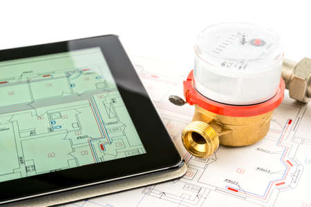 Heating system development. Professional tools and devices.