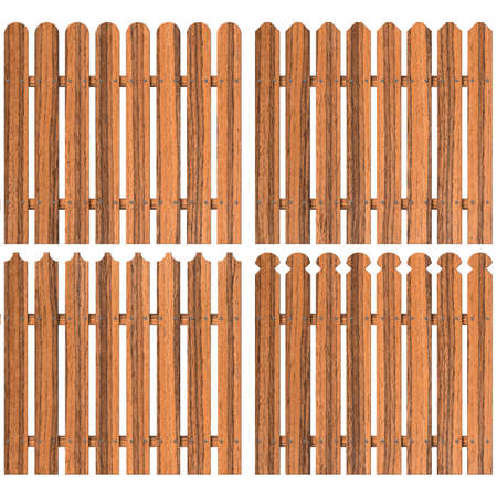 fence panel: set of four wooden fences