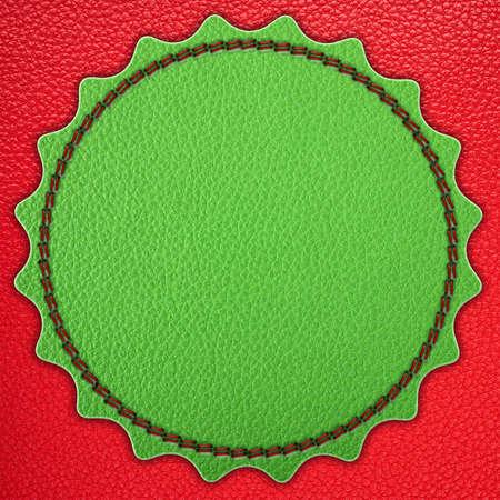 Green star leather stripe