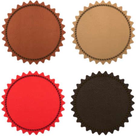 Set of four leather stripes Stock Photo