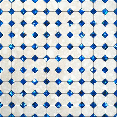 Tile mosaic background Stock Photo - 21193029