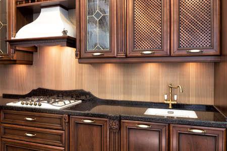 moderna sala cucina in stile classico.