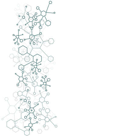 dna icon: abstract background of molecular structure over white Illustration