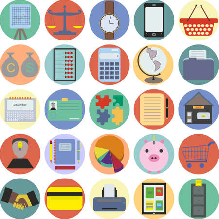 Set from 25 business claimed, stylish icons Vector