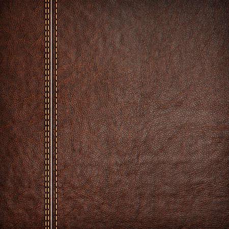 Fondo de cuero cosido colores rojo y marrón Foto de archivo