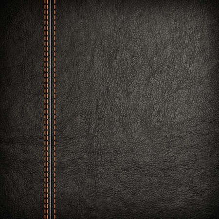 seam: Stitched leather background in dark colors  Close up