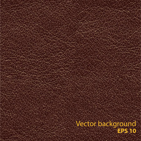 Seamless brown natural leather texture, detalised vector background Banco de Imagens - 39101721