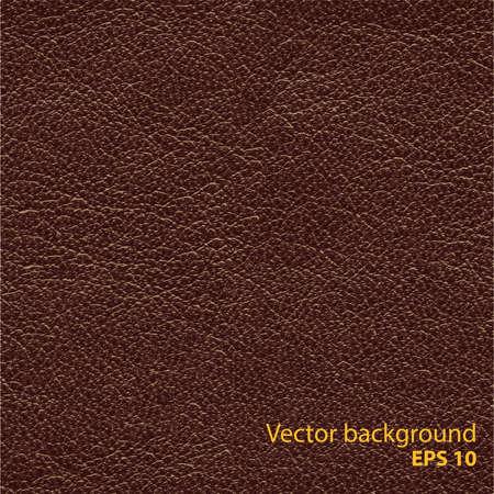Seamless textura de cuero marrón natural, vector detalised fondo Vectores