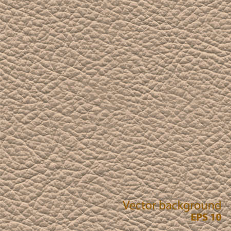 Seamless brown natural leather texture, detalised vector background