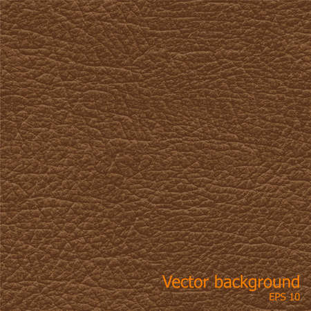 brown leather: Seamless brown natural leather texture, detalised vector background
