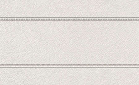background of light gray stitched leather texture