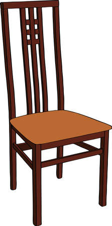 wooden chair: Wooden chair. Isolated on white background. Realistic vector illustration.