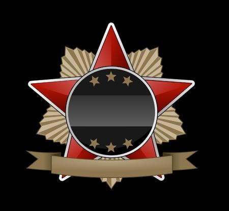 ribon: Red star medal
