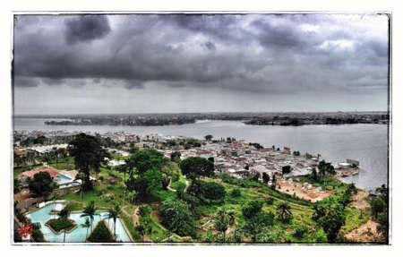 View of the Lagune in Abidjan Ivory Coast West Africa