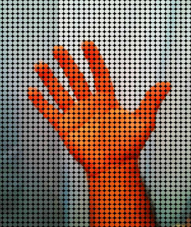 Abstract shape hand Reklamní fotografie