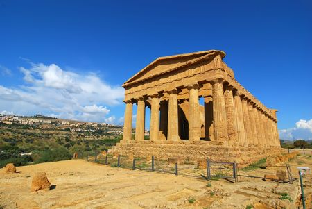 agrigento: Agrigento temple in Sicily