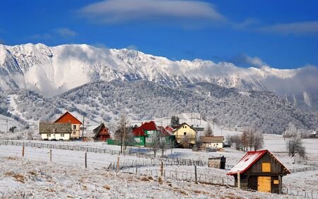 Winter rural landscape in Romania
