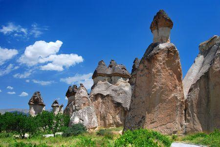 Cappadocia landscape Stok Fotoğraf