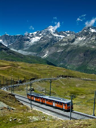 Gornergratbahn in Switzerland  Stock Photo