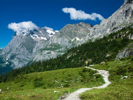 Alps landscape in Switzerland Stock Photo