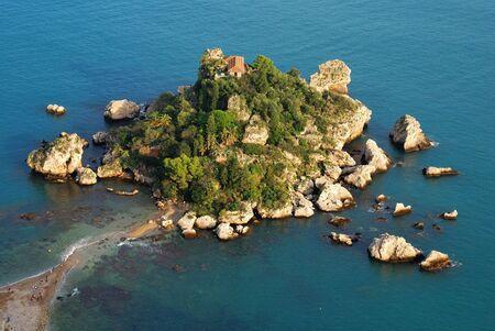 Isola Bella, Taormina, Sicily Imagens