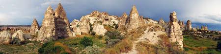 honeycombed: Cappadocia landscape, Goreme, Turkey