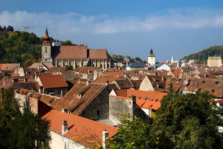 barsa: Old center of Brasov city (one of the most beautiful medieval town from Europe).