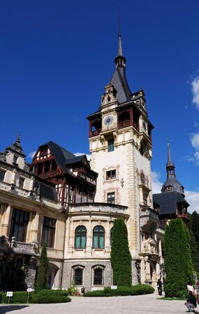 Historical monument, Peles Castle is a Neo-Renaissance castle placed in an idyllic setting in the Carpathian Mountains, near Sinaia. Was the romanian kings residence.