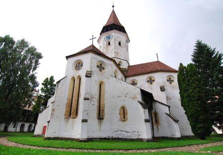 teutonic: Fortezza Prejmer (chiesa fortificata) � stata fondata da Cavalieri Teutonici e coloni sassone provengono da Turingia nel XIII secolo. La soluzione � stata la prima volta nel scritto nel 1240.  Archivio Fotografico